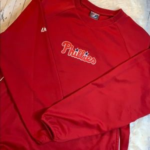 Phillies Majestic Therma Base Fleece Pullover